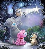 Kit de pintura de diamante 5D de Numbers Teddy Animals DIY painting disney, Crystal Rhinestone de punto de cruz bordado artes manualidades suministros para decoración de la pared del hogar 30x30 cm