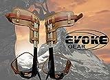 Evoke Gear Tree Climbing Spike Set Pole Climbing Spurs Climber Adjustable Short Graff
