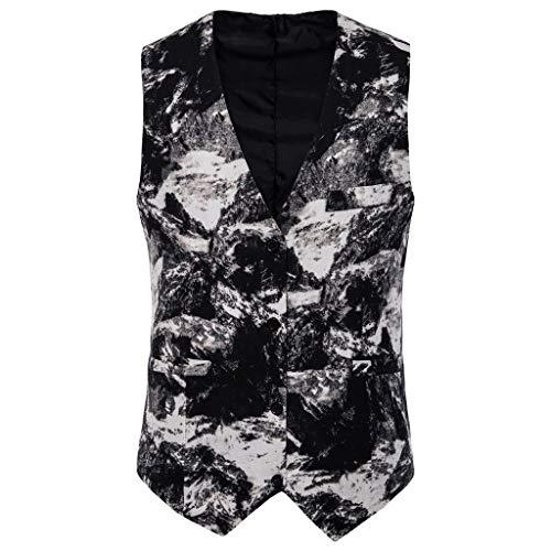 Dasongff jacquard pak voor heren, voor feestjes en bruiloften, slim fit, etnische stijl, print vintage vesten