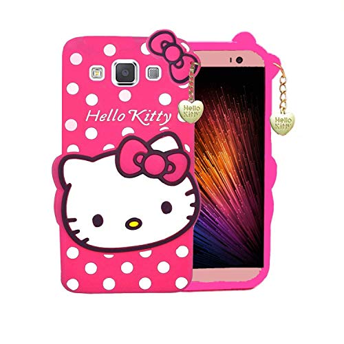 Monkish Soft Silicone Cartoon Printed Hello Kitty Back Cover for Samsung Galaxy Grand Prime - Pink