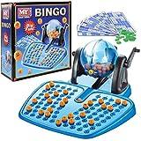 BINGO LOTTO GAME 48 CARDS 100 COVERING CHIPS 90 BINGO BALLS AND THE BINGO BALL DISPENSER