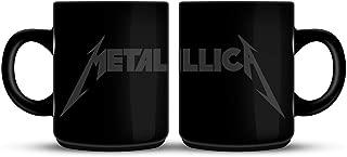 Metallica Mug Band Logo Spiked Hardwired Official Black