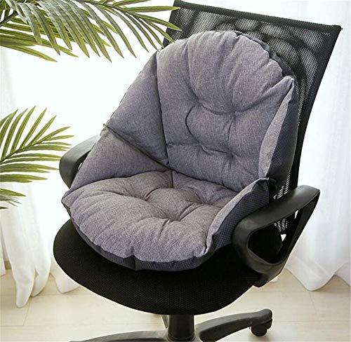 Hava Kolari Auflage Stuhlauflage Sitzkissen Sitzpolster Kissen Niederlehner Sitz Rückenkissen mit abnehmbarem Kopfpolster (Ruß,48 * 40cm)