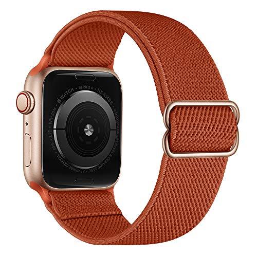 AISPORTS Compatible con Apple Watch Correa de nailon de 40 mm y 38 mm para mujeres y hombres, correa de repuesto para Apple Watch SE/iWatch Series 6/5/4/3/2/1