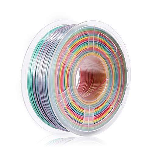 SUNLU Rainbow PLA Filament 1.75mm 3D Printer Filament 3D Pens 1KG PLA Filament +/- 0.02 mm (Rainbow)
