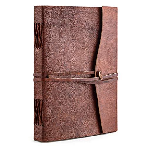 A.P. Donovan – Diario de viaje de piel, cuaderno de notas vacío para escribir o pintar, libro de recetas, libro de recetas para escribir uno mismo, diario, DIN A5