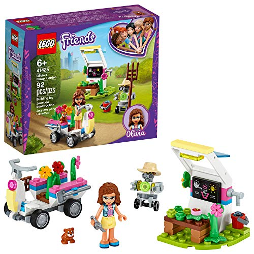 LEGO Friends Olivia?s Flower Garden 41425 Building Toy for Kids; This Play Garden Comes with 2 Buildable Figures, Friends Olivia and Zobo, for Hours of Creative Play, New 2020 (92 Pieces)