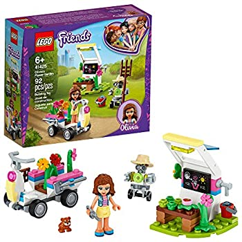 LEGO Friends Olivia's Flower Garden 41425 Building Toy for Kids  This Play Garden Comes with 2 Buildable Figures Friends Olivia and Zobo for Hours of Creative Play New 2020  92 Pieces