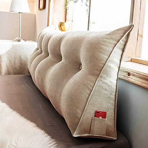 Almohadas de lectura Cuña cojín almohada cabecero soporte almohada triangular cabecero respaldo respaldo lectura cuña almohada cojín sofá almohada triángulo cojín oficina cama trasero posicionamiento