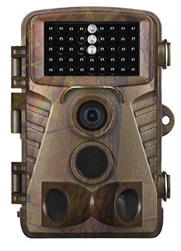 MEDION S49119 Wildkamera, 5.0 MP, Heimüberwachung oder Tierbeobachtung, Spritzwassergeschützt, Full-HD, Belichtungsautomatik, Mikrofon, Lautsprecher, grün
