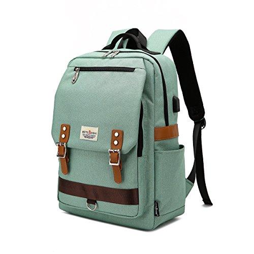 Mochila para portátil, mochila escolar para portátil de 15