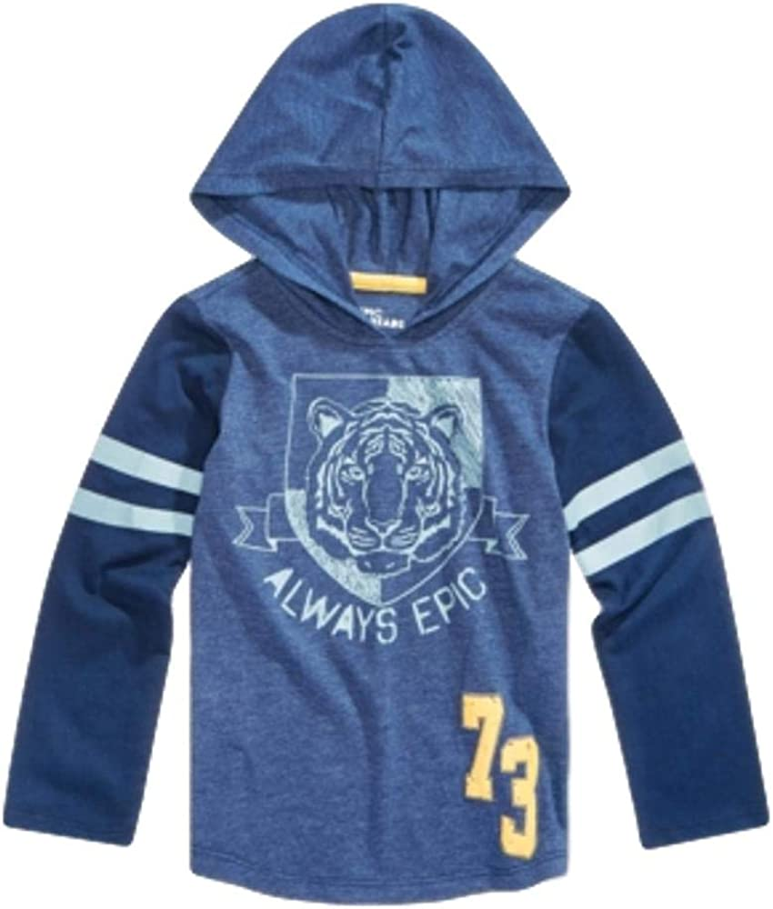 Epic Threads Toddler Boys Hooded Graphic-Print T-Shirt, Size 2 Navy