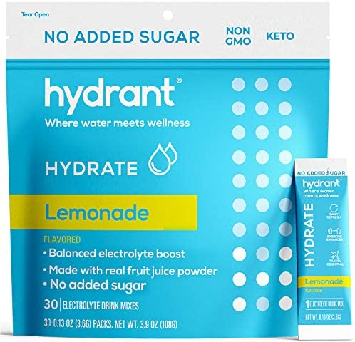 Hydrant Electrolyte Hydration Powder Lemonade No Sugar Added Keto Friendly Electrolyte Powder product image
