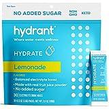 Hydrant Electrolyte Hydration Powder,LemonadeNo Sugar Added, Keto-Friendly Electrolyte Powder Packets, Boost Energy, Supplement Drink for Immunity Support, 30 Pack