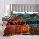 King_Kong_VS God_zilla Merchandise Ultra-Soft Micro Throw Blanket Monster Series One Will Fall Movie Poster 2021 Air Conditioning Lightweight Blanket for Cinema Yoga Picnic Travel Beach Home (60'x50')