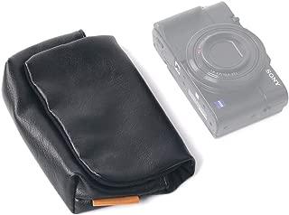 【SONY DSC-RX100M7 / FUJIFILM XF10 / G7 X Mark IIIなど収納可能】 ORMY レザー製 デジカメケース デジタルカメラバッグ (ブラック)