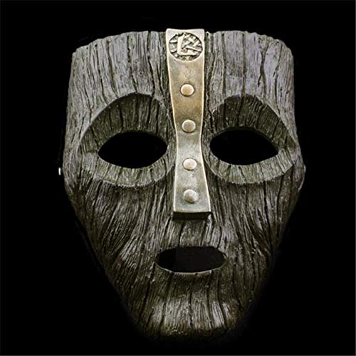 Miaoao-mask Halloween-Harz-Masken, Jim Carrey venezianischer Maske Der Gott des Unfugs Maskerade Replik Cosplay Props (Color : 2.4L - E)