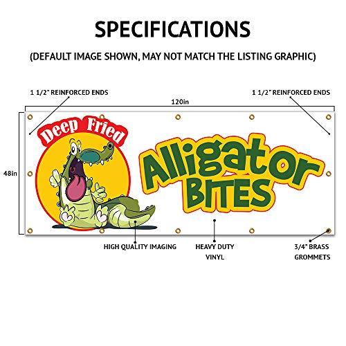 "48""x120"" Elephant Ears Banner Sign concessions Signs Ear Fresh hot Crispy Photo #4"