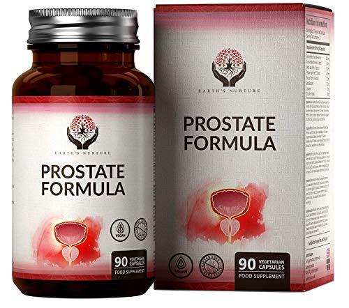 EN Prostata Integratore | 90 Capsule Vegetariane con Serenoa Repens, Pygeum, Zinco, Semi di Zucca, Foglia D'ortica, e Saw Palmetto | Per la Salute della Vescica Maschile | Certificata ISO