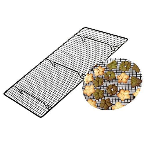 Koolstofstaal Koelrek Koelrooster met niet-klevende coating voor koekjestaarten Brood Zwart