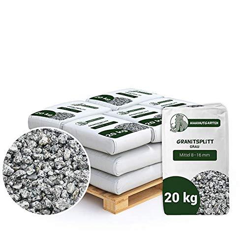 Granitsplitt Deko Splitt Gartenkies Buntkies Grau Fein 8-16mm Sack 20kg x 15 STK (300 kg)