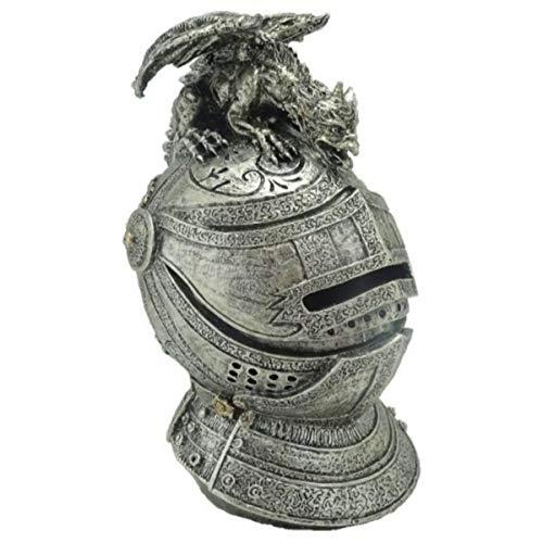 Isideco Spardose mittelalterlicher Ritterhelm mit Drache