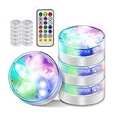 RUMUI Juego de luces LED impermeables de 10 colores Meteor Flash monocromo colorido 3 modos con imán ventosa piscina luz