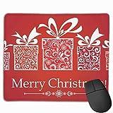 マウスパッド オフィス 最適 クリスマス 赤 プレゼント リボン 節分 ゲーミング 光学式マウス対応 防水性 耐久性 滑り止め 多機能 標準サイズ25cm×30cm