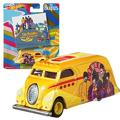 Hot Wheels Pop Culture The Beatles Premium Set   Vehículos Coche Mattel DLB45, Vehículo:Deco Delivery
