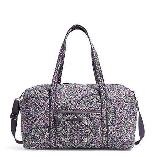 Vera Bradley Women's Signature Cotton Large Travel Duffel Bag, Bonbon Medallion, One Size