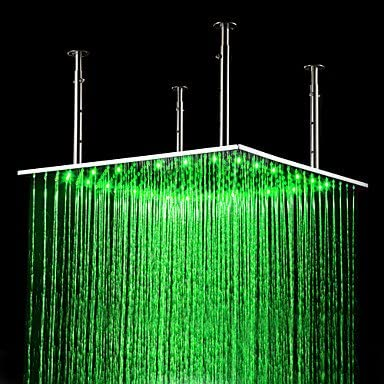 24 inch Max 52% OFF Stainless SEAL limited product Steel Shower Head Ligh Changing LED with Color