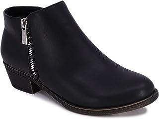 Women's Ankle Boot Dress Bootie With Side Zipper - Alara