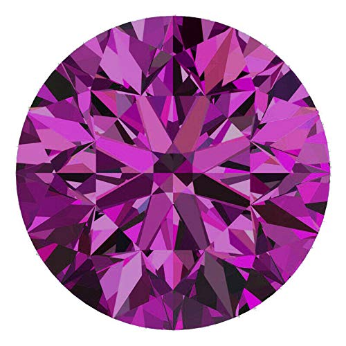 CERTIFIED 1.3 MM / 0.01 Cts. Natural Loose Diamonds, Pack of 10, Fancy Purple Color Round Brilliant Cut SI3-I1 Clarity 100% Real Diamonds by IndiGems