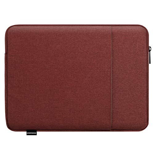 Dadanism 13.3 inch Sleeve Custodia per Tablet Compatibile con iPad PRO 12.9/11 2020/2018, New MacBook Air/PRO 13', Surface PRO 7/6/5/4 12.3', Custodia Protettiva con Tasca Portaoggetti, Rosso