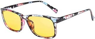Aiweijia Unisex Vintage optical glasses Yellow lens Anti-blue light glasses