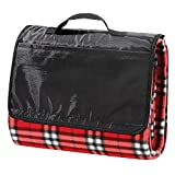All Purpose Picnic Blanket - Soft Plush Outdoor, Beach, Travel, Camping Fleece Throw Blanket 50x60 Inches