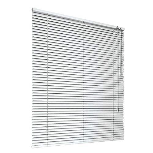 HSYLYM Persianas venecianas Habitación de Aluminio Oscurecimiento Muebles para el hogar Protección contra el Resplandor Decoración de Ventanas Persianas de Oficina (Blanco, 120x130cm)