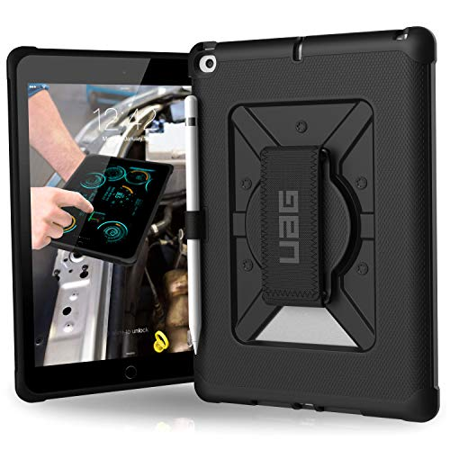 Urban Armor Gear UAG iPad 9.7-inch (2017 5th Gen & 2018 6th Gen) Case with Hand Strap Metropolis Light Rugged Military Drop Tested Cover, Black
