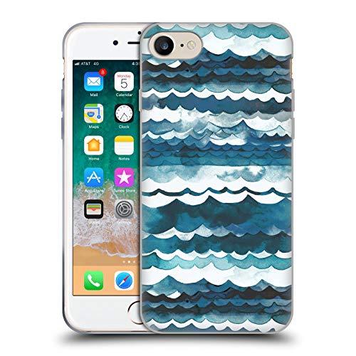 Head Case Designs Licenciado Oficialmente Ninola Playa de Las Olas del mar Moderno 2 Carcasa de Gel de Silicona Compatible con Apple iPhone 7 / iPhone 8 / iPhone SE 2020