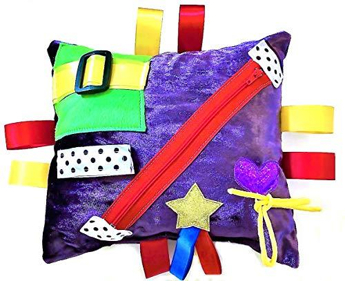 Purple Jazzy Beanbag Cushion - Sensory Tactile Dementia/ Autism Spectrum/ ADHD, Activity Product