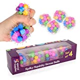 DNA Squish Stress Ball (4-Pack) Squeeze, Color Sensory Toy - Relieve Tension, Stress - Home, Travel...