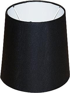 Abażur 200x160x200 mm średnica dolna x średnica górna x wysokość   Stożek   Bawełna kolor czarny   Pod oprawkę E14 (małą) ...