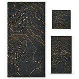 ZORMIEY Toallas Suaves Altamente absorbentes de 3 Piezas Que establecen la Altura estilizada del Contorno del Mapa...