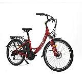 Levin dental Bicicleta eléctrica Urban 26', 25km/h (Rojo)