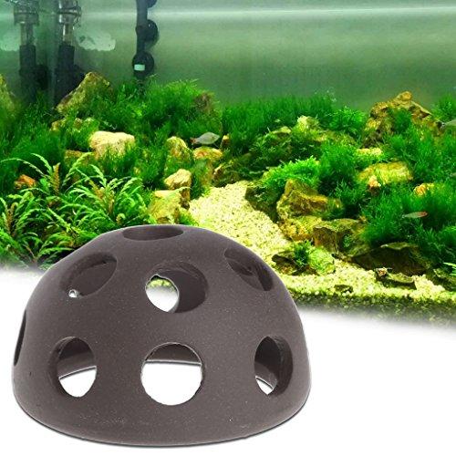 Lunji Aquarium Dekoration – Höhle aus Keramik für kleine Fische und Garnelen, 5,5 x 4 cm