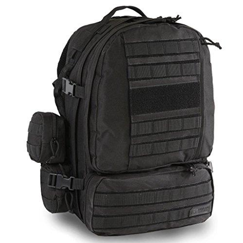 Highland Tactical Apollo Heavy Duty Backpack (HLBP29) (Black)