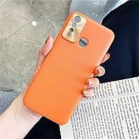 WZY レンズリング保護カバー(ブラック)付きvivo Y5Sオールインクルーシブ純プライムスキンプラスチックケース (Color : Orange)