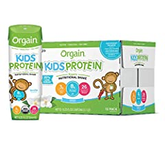 Includes 12 (8.25 ounce) ready to drink orgain kids protein organic vanilla nutritional shakes 8 grams of clean organic protein (from organic grass milk protein and organic whey protein concentrate), 3 dietary fiber, 21 vitamins & minerals, 10 organi...