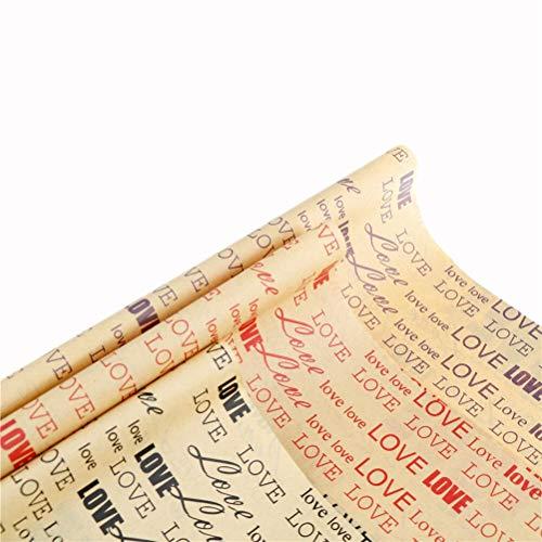 Yun-hangbaihuodian Blumenhändler Blumenstrauß Wrap Zeitung Papier Material Blume Einwickelpapier Geschenkverpackung for Weihnachten & Party Danksagung