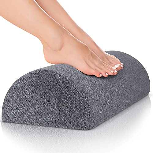 Foot Rest for Under Desk at Work, Nordic Grey Firm, Comfortable for Home, Travel, or Office Footrests Desk, Washable Oeko-TEX Cover, Non- Slip Grip Footrest, with Rocking Ergonomic Design